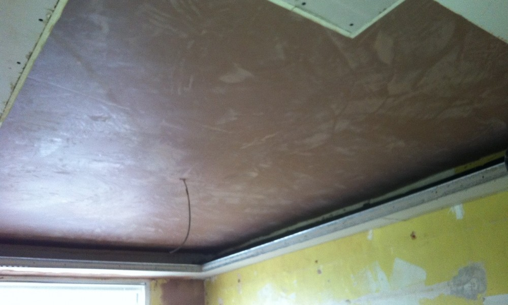 New plastering for a new second ceiling